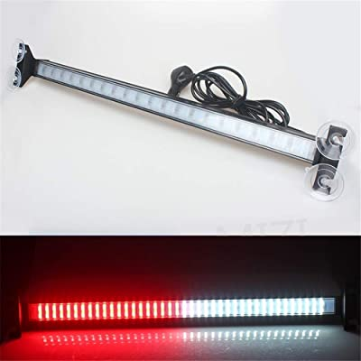 Clidr New Arrival 80 Led Strobe Light Windshield Car Flash Signal Emergency Warning Light Fireman Police Light Bar Beacon Car Truck stroboscopes (red white): Automotive [5Bkhe2003873]