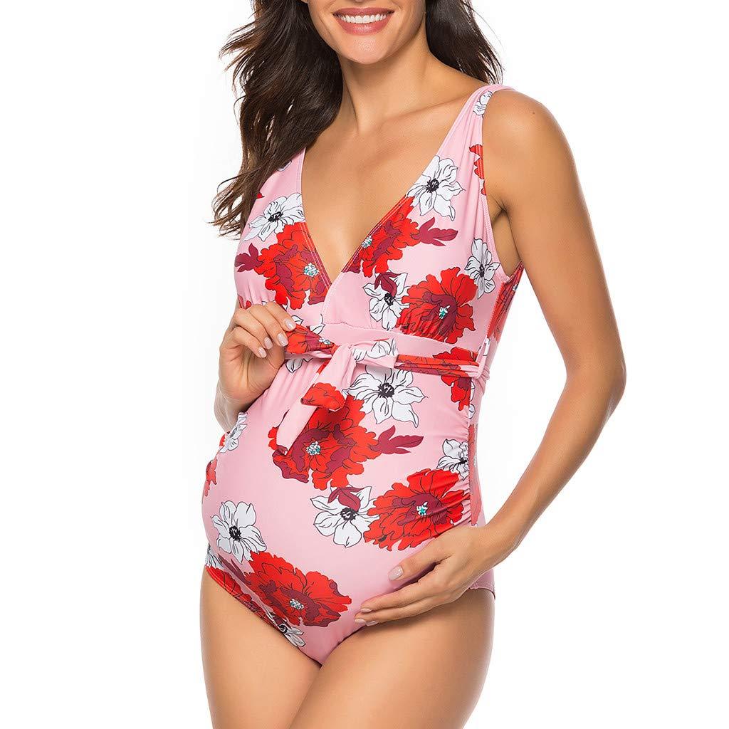 Mujer Embarazada Traje de Baño de Una Pieza Más el Tamaño ...