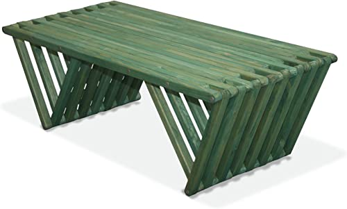 GloDea CTX90P1AGN XQCT90YPAG Wood Coffee Table, 54 x 20 x 16, Alligator Green