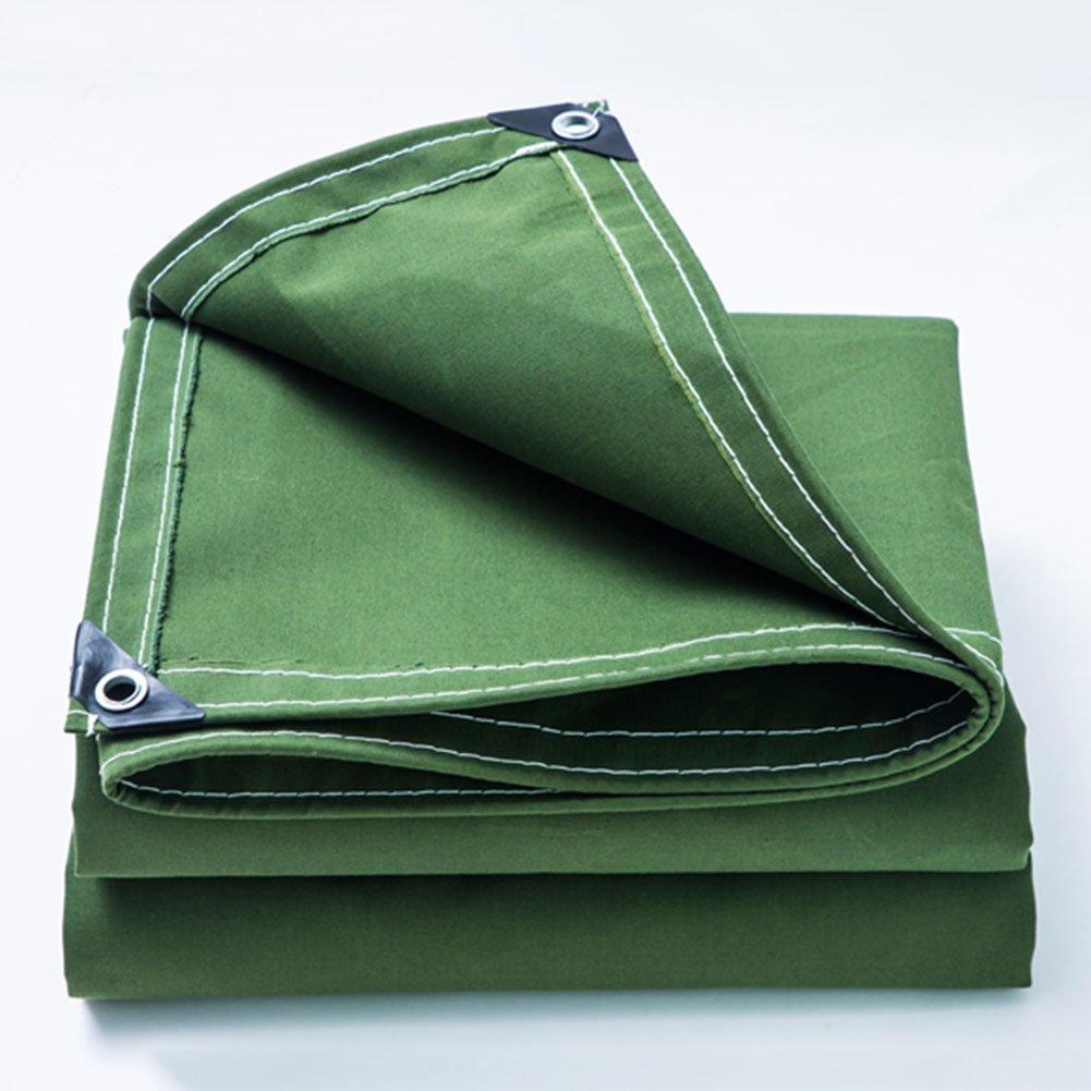 AINIYF Cartuccia per teloni da Esterno in Tela Cerata Resistente all'Usura verde 500 g m2 (Spessore 0,5 mm) (Dimensioni   2x5m)