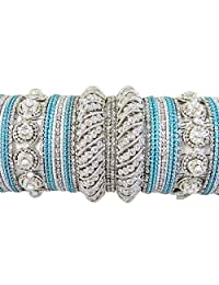 Indian Traditional Bollywood Metal Bangles Set Women Ethnic Jewelry Indian Gift Set 2*6 for Her