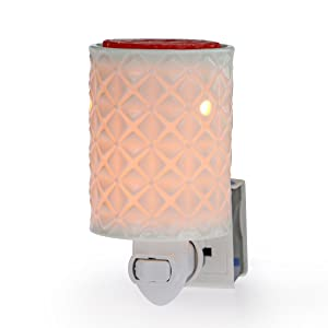 StarMoon Plug in Wax Melt Warmer for Home Décor, Pluggable Home Fragrance Diffuser, No Flame, with One More Bulb (Four-Leaf Clover, in1)