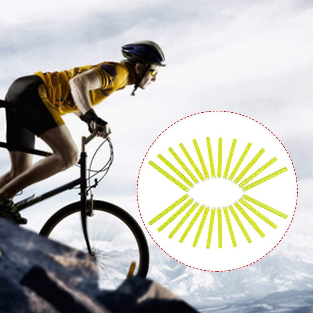 Explopur Ruedas de Bicicleta Radios Sticks Reflectantes 24 Piezas ...