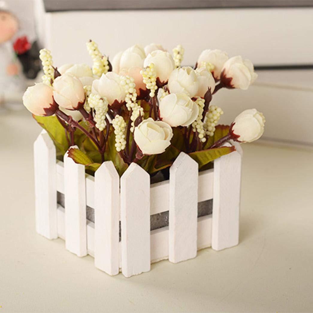 LtrottedJ 造花 ハイエンドローズシルク ホームデコレーション ブライダルウェディングブーケ 誕生日フラワーブーケ ホテルパーティー ガーデン 45mm*45mm ホワイト B07GPHX5JD ホワイト