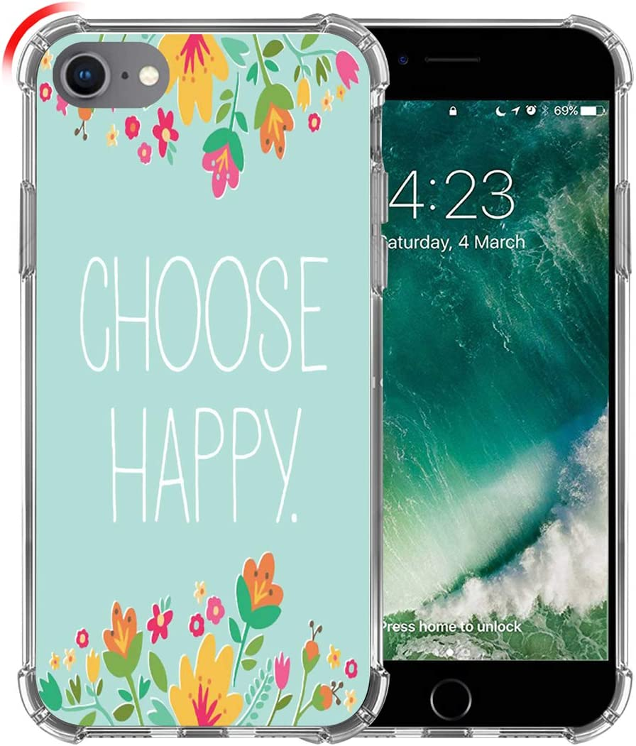 Hungo Case for iPhone SE 2020 Sayings Inspirational, Soft TPU Silicone Protective Cover Compatible with iPhone 8/7 / SE 2020 (SE 2) Life Sayings
