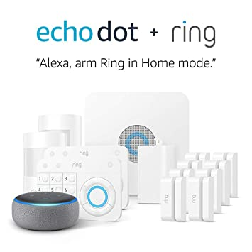 a314d2633 Amazon.com  Ring Alarm 14 Piece Kit + Echo Dot (3rd Gen)