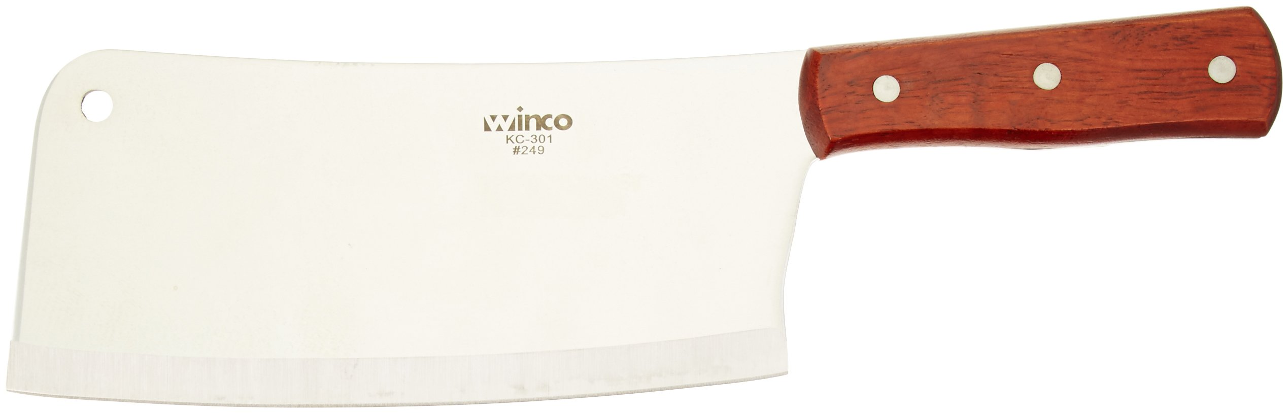 Winco 12 Heavy Duty Cleaver Set, with Wooden Handle