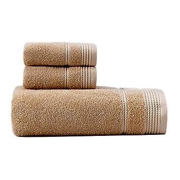 YaNanHome Toalla de algodón Toalla Absorbente Suave y Potente para Adultos Toalla de baño Estilo Coreano Lindo Contenido del Paquete 1 Toalla de baño 2 ...