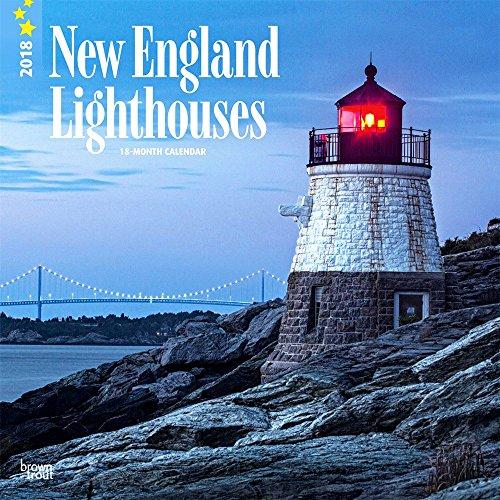 Lighthouses Calendar 2018 - Deluxe Wall Calendar (12x12) (New England Lighthouses 2018)