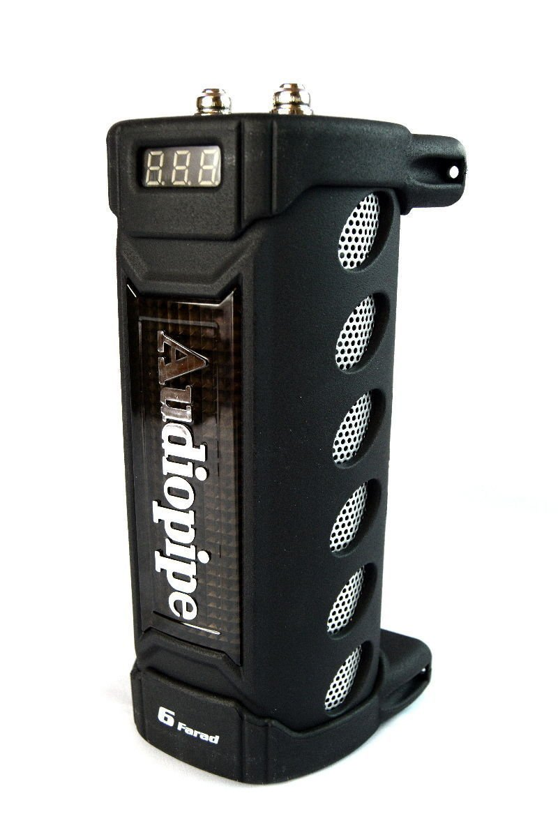 New Audiopipe ACAP-6000 6 Farad Power Car Audio Capacitor Digital Display Black