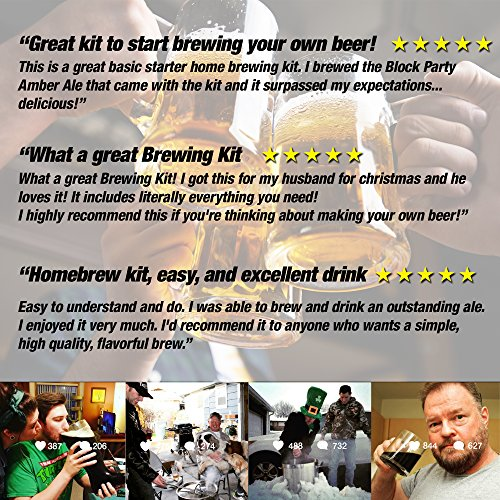 Brew. Share. Enjoy. Homebrew 5 Gallon Beer Brewing Starter Kit with Chinook IPA Beer Recipe Kit and Brew Kettle by Northern Brewer (Image #2)