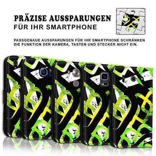 Wallet Book Style Flip Handy Tasche Case Schutz Hülle Schale Motiv Etui für Apple iPhone 4 / 4S - Design Flip MVD184