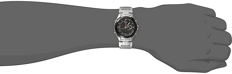 Casio Twin Sensor Ana Digi Watch - Reloj (Reloj de pulsera, Masculino, Negro, Metal, Plata, Alrededor): Casio: Amazon.es: Relojes