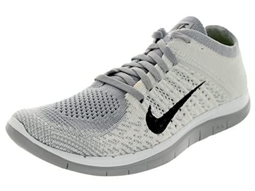 separation shoes c3459 3cd34 Nike Womens Free 4.0 Flyknit Running Trainers 631050 Sneakers Shoes (UK 4  US 6.5 EU 37.5, White Black Pure Platinum Wolf Grey 101)  Amazon.co.uk   Shoes   ...