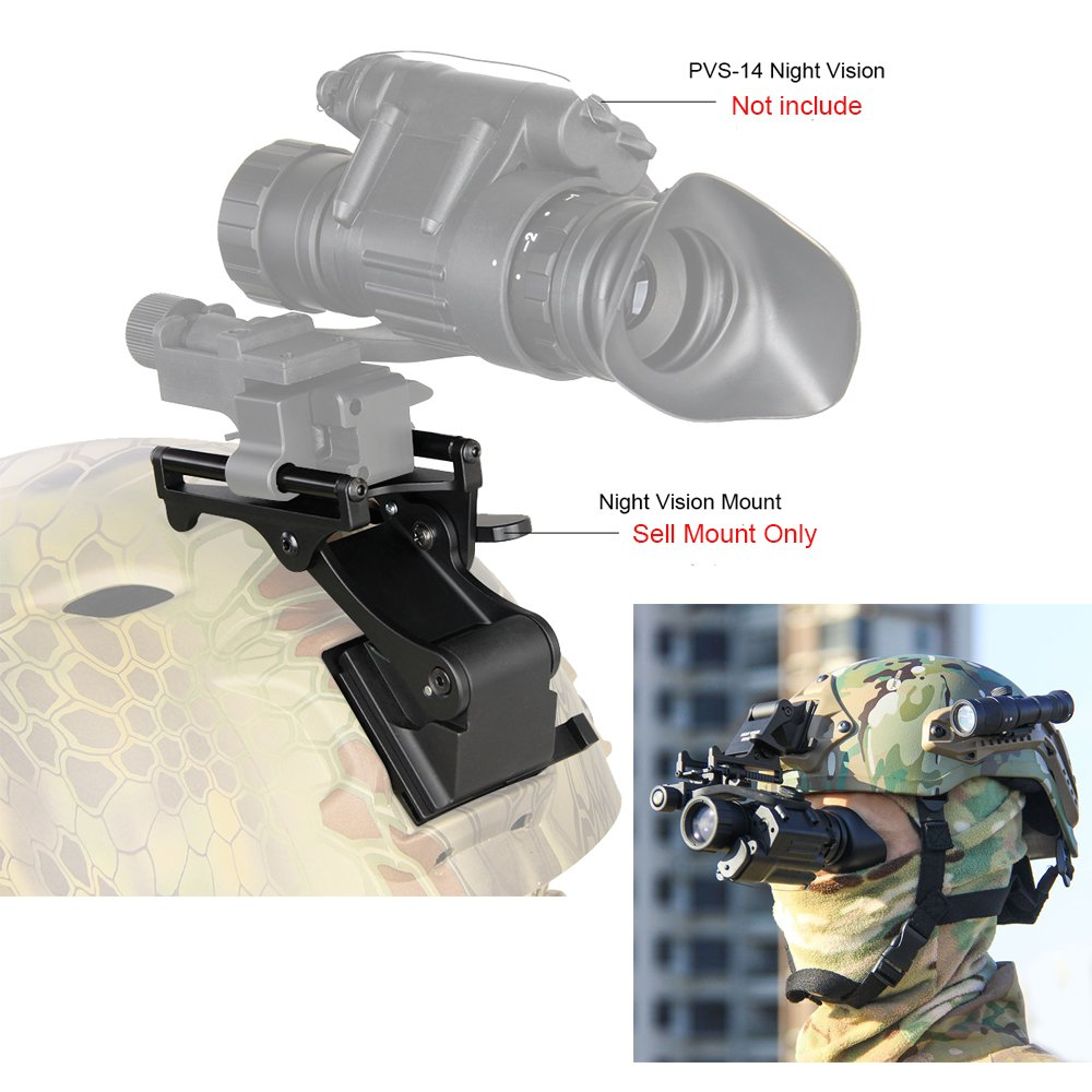 Canis Latrans Night Vision Goggles (NVG) Rhino Mount for PSV-7 PSV-14 Full Metal Tactical Helmet Mount(Tan) by CANIS LATRANS (Image #6)