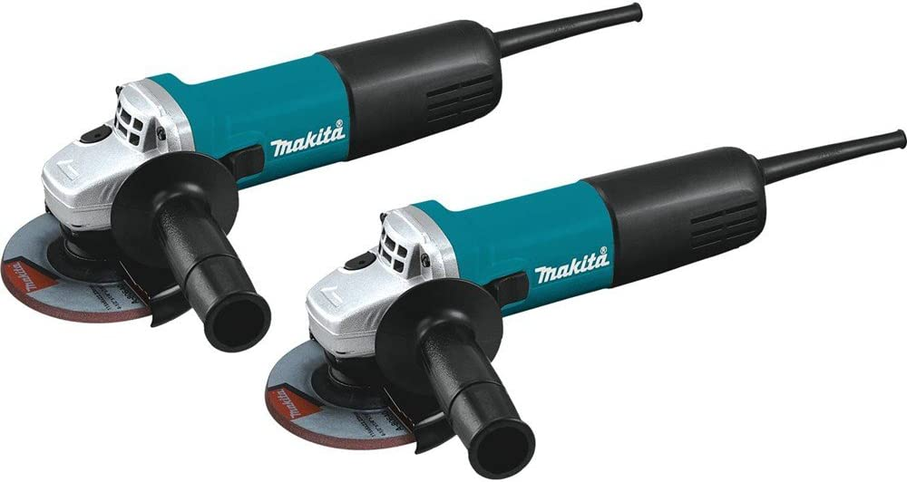 Makita 9557NB2 4-1 2 Angle Grinder, with AC DC Switch 2 Pack