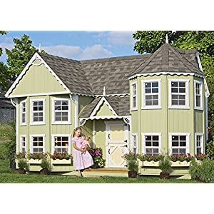 Best Epic Trends 61O6UAu%2BjkL._SS300_ Little Cottage Company Sara's Victorian Mansion DIY Playhouse Kit, 10' x 18'