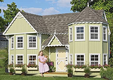 Pleasant Little Cottage Company Saras Victorian Mansion Diy Playhouse Kit 8 X 16 Interior Design Ideas Clesiryabchikinfo