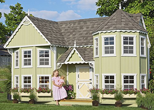 (Little Cottage Company Sara's Victorian Mansion DIY Playhouse Kit, 10' x 18')