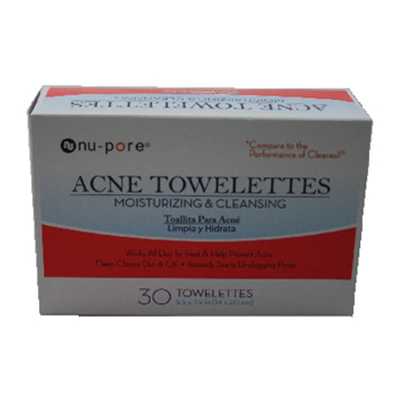 (Pack of 24, 720 Ct) NuPore Acne Towelettes Moisturizing & Cleansing