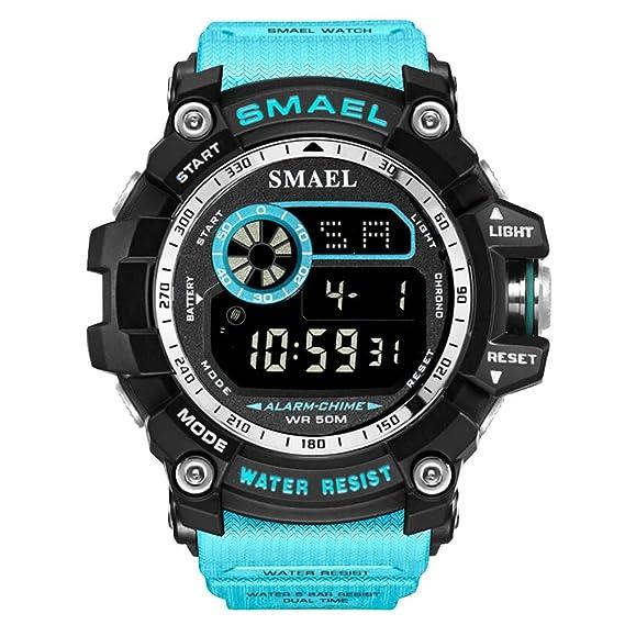 Relojes Militares de Marca Relojes de Camuflaje Digital Reloj Grande