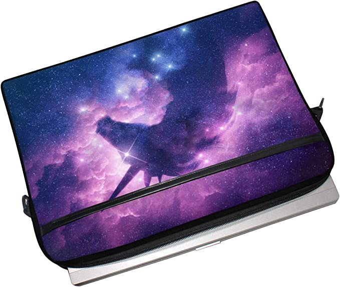 Designed to Fit Any Laptop//Notebook//ultrabook//MacBook with Display Size 11.6 Inches Unicorn Silhouette in Galaxy Nebula Cloud Pattern Neoprene Sleeve Pouch Case Bag for 11.6 Inch Laptop Computer