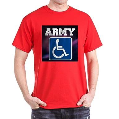 749d997af6 Amazon.com: CafePress Army Handicapped Disabled T-Shirt Cotton T ...