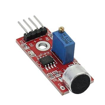 micrófono Sensor Módulo de Detección de Alta Sensibilidad de Sonido para Arduino AVR PIC: Amazon.es: Electrónica