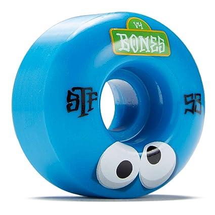 Bones Rueda para Skate Street Googly V4-53Mm Azul (Default, Azul)