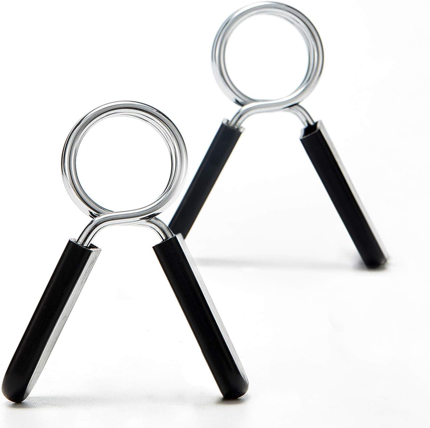 HOTOP 8 Piezas de 1 Pulgadas de Collares de Resorte de Mancuernas Abrazaderas con Barras Collares de Resorte Deportivos Clips de Abrazaderas de Macuernas