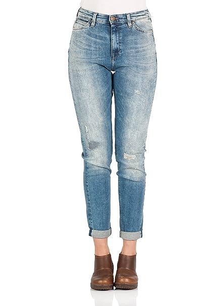 Lee Damen Jeans Mom - Tapered Fit - Blau - Eatside Repair, Größe W ... adf2bbe539