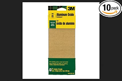Wood Metal Sandpaper Third Sheets 3M 9015NA 9 Fine Paint