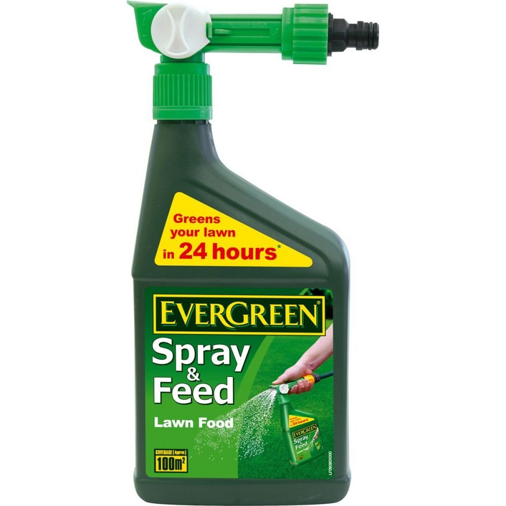 EverGreen 100sqm Spray/Feed Lawn Food Evergreen Garden Care Ltd 016267 fertiliser fertilizer