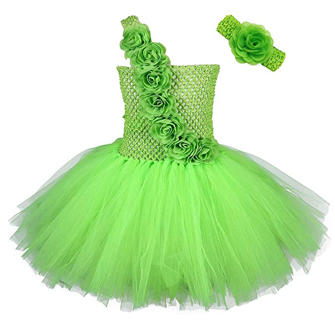 14739e847 Tutu Dreams Baby Girls St Patricks Day Fairy Princess Costumes Set Flower  Sash Light Green Tutus