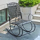 Santa Fe Patio Metal Rocker in Bronze