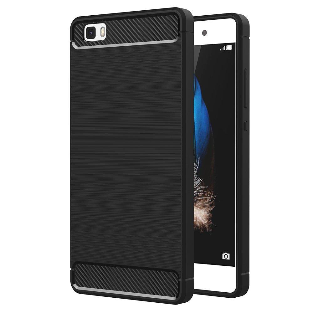 Funda Huawei P Lite AICEK Huawei P Lite Funda Negro Gel de