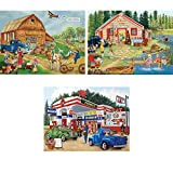 Bits and Pieces - Set of Three (3) 300 Piece Jigsaw Puzzles
