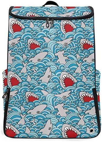 リュック メンズ レディース リュックサック 3way バックパック 大容量 ビジネス 多機能 鲨鱼蓝浪花 スクエアリュック シューズポケット 防水 スポーツ 上下2層式 アウトドア旅行 耐衝撃