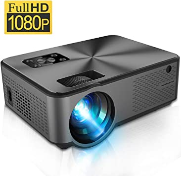 iBosi Cheng Portable Mini Projector with Full HD 1080P LED Display Supported, Home Theater Video Projector with HDMI/ USB/ VGA/ AV Input for ...