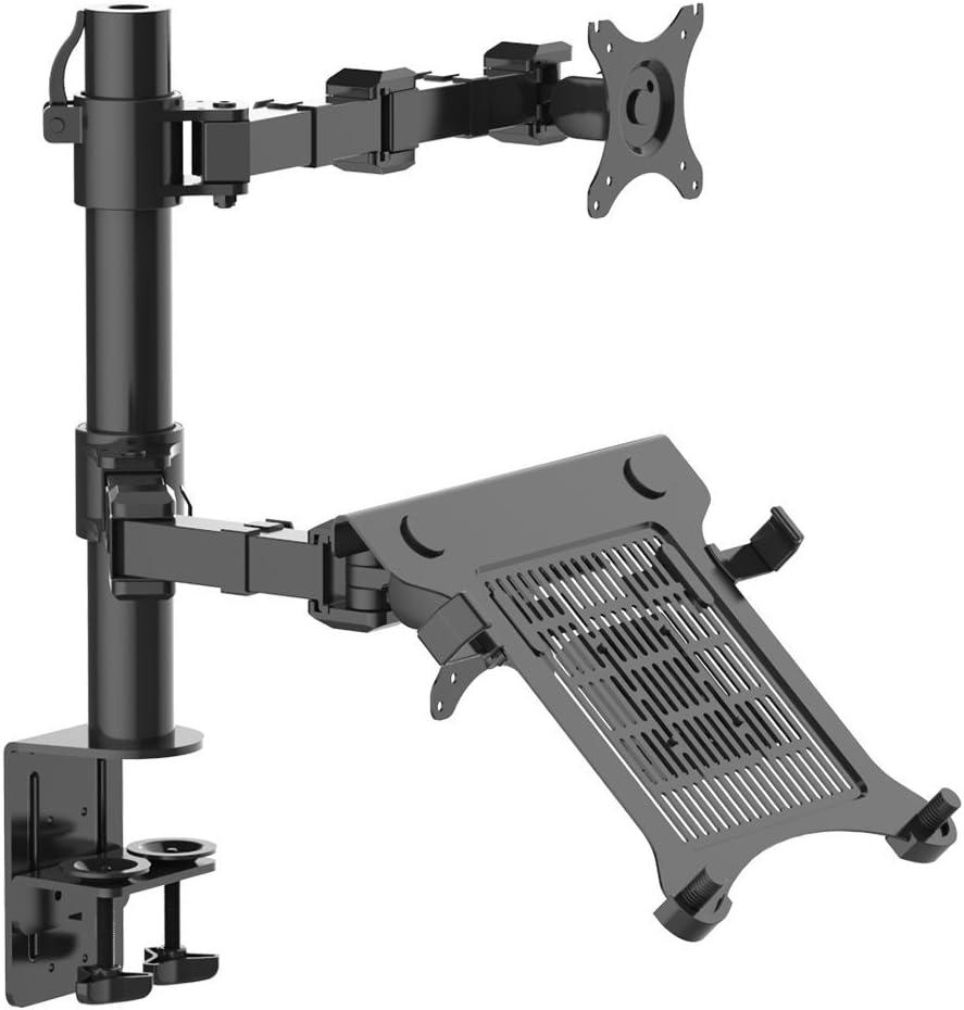 ThingyClub supporto girevole regolabile da scrivania per Monitor PC braccio di supporto con staffa di supporto