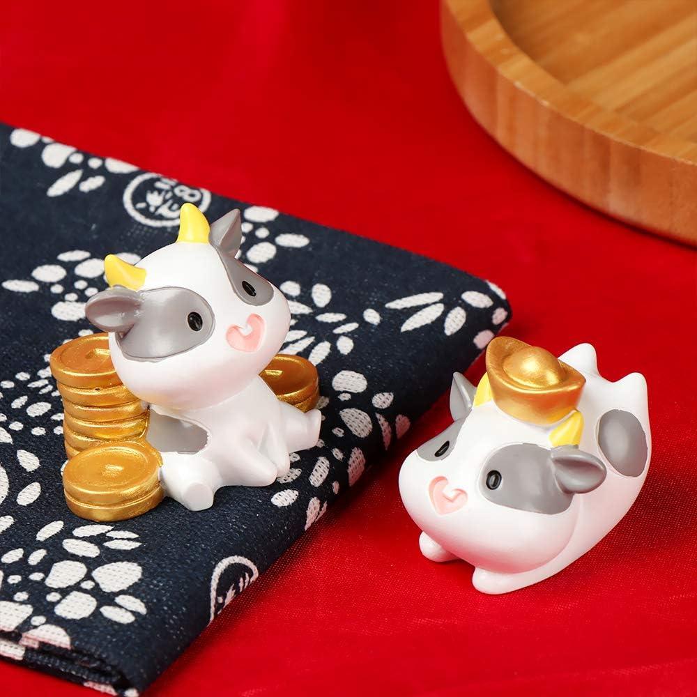 type 1 animaux miniatures petite statue Johnshine Figurine de vache mignonne pour le bureau maison de poup/ée
