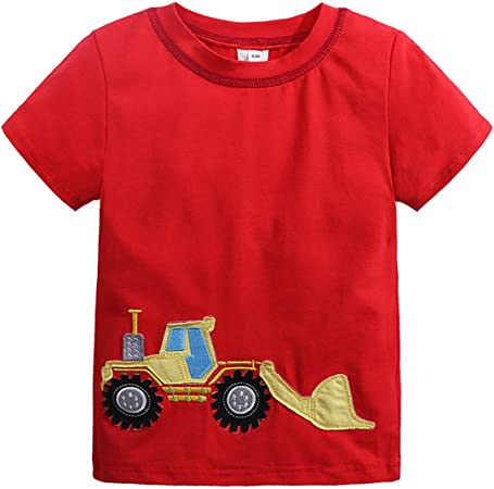 Summer Infant Baby Kids Boys Girls T Shirts Cartoon Print T Shirts Tops Outfits