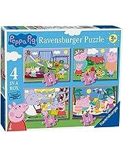 Ravensburger Peppa Pig 4 en una caja (12, 16, 20, 24 piezas) Puzzles de sierra