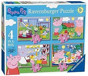 Ravensburger Peppa Pig 4 In A Box Jigsaw Puzzles (12, 16, 20, 24pc)