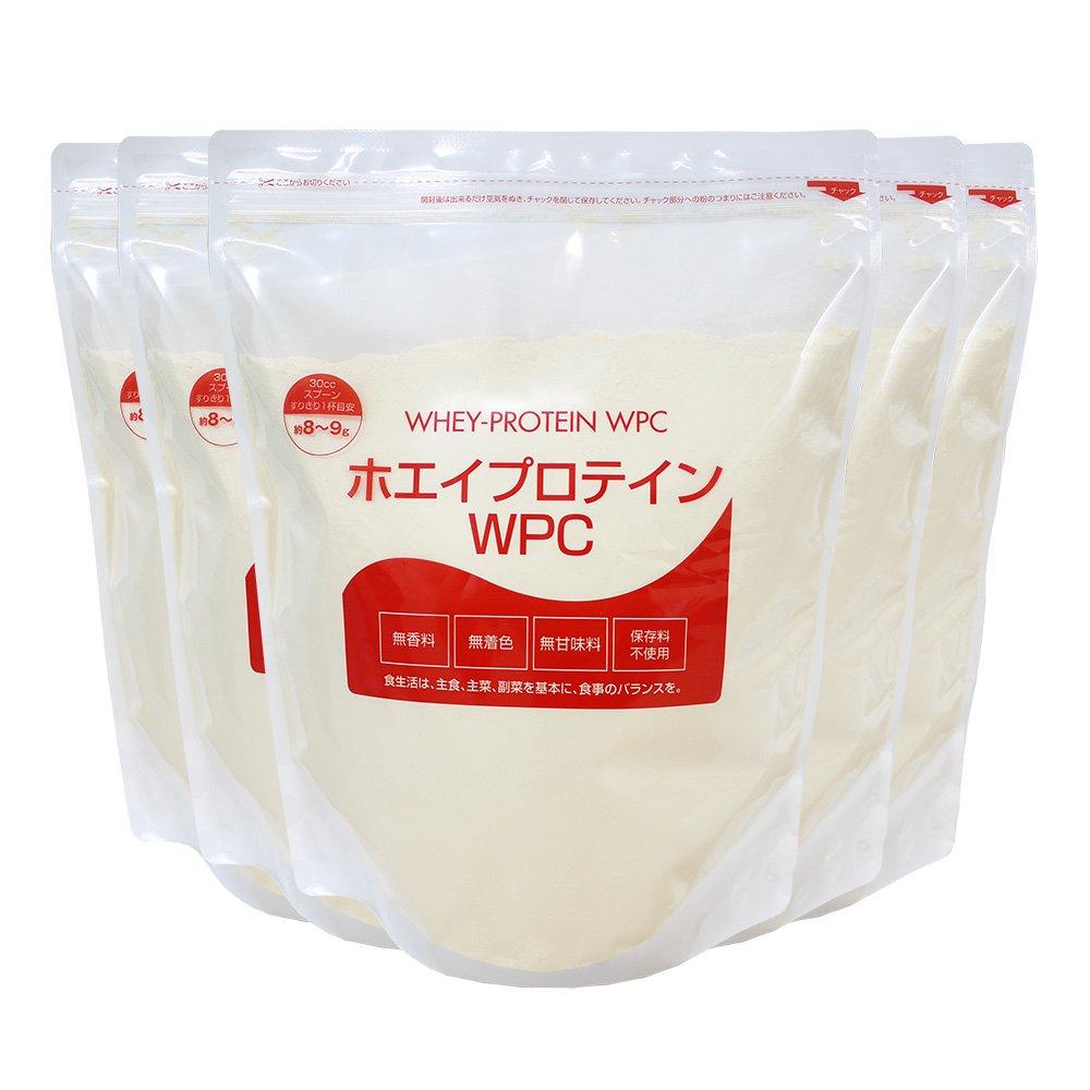 nichie ホエイプロテイン WPC 5kg(1kg×5袋) B013QHNUNC   5kg(1kg×5袋)【 Amazonより発送 】