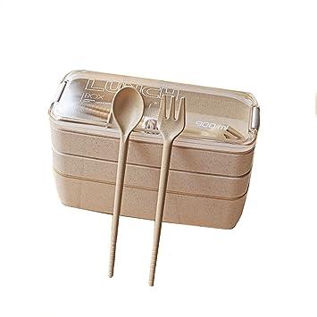 Fiambrera multicapa para horno microondas para adultos, estudiantes, para pérdida de peso, caja