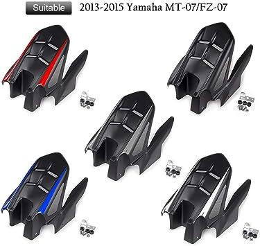 Black FATExpress Motorcycle Rear Mudguard Fender Tire Hugger Plastic for 2013-2015 Yamaha FZ07 MT07 MT FZ 07 FZ-07 MT-07 2014 13-15
