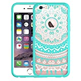 Best EVERMARKET Iphone 6 Cases Clears - EVERMARKET(TM) iPhone 6/6s 4.7'' Case, Mint Blue Retro Review