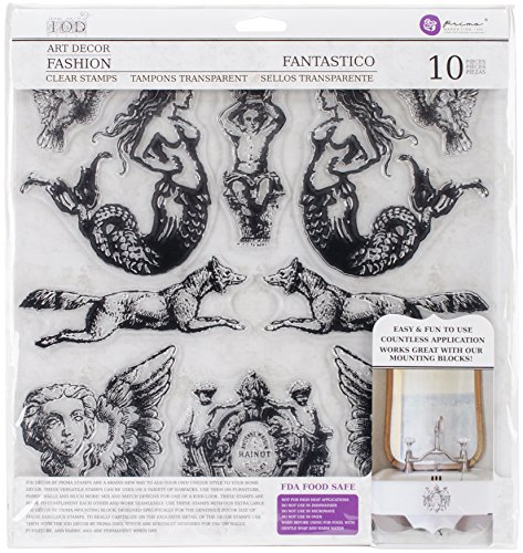 Prima Marketing Clear Stamp - Prima Marketing Iron Orchid Designs Decor Clear Stamps -Fantastico, 12