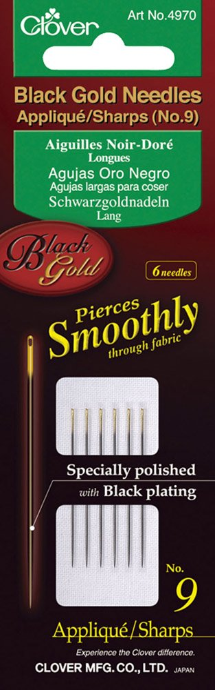 Clover Black Gold Needles Applique/Sharps No 9 4970